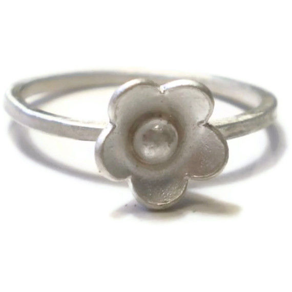 Blum Blum sterling silver flower stacking Ring - product images  of