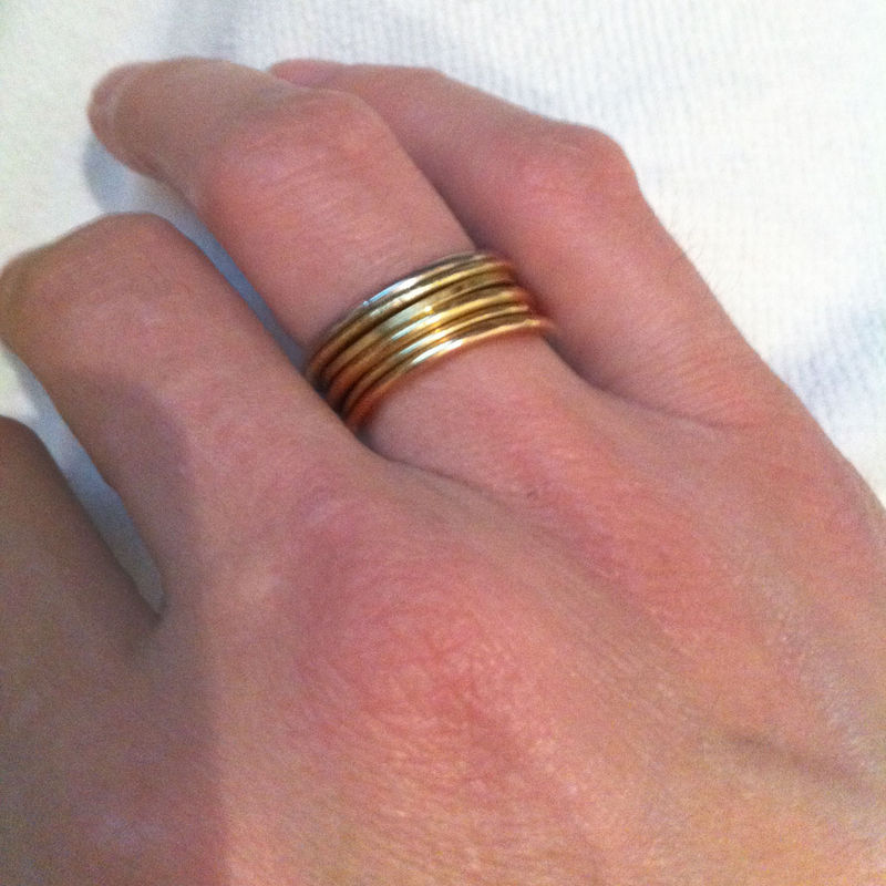 Thin 18K yellow gold stacking ring - product images  of