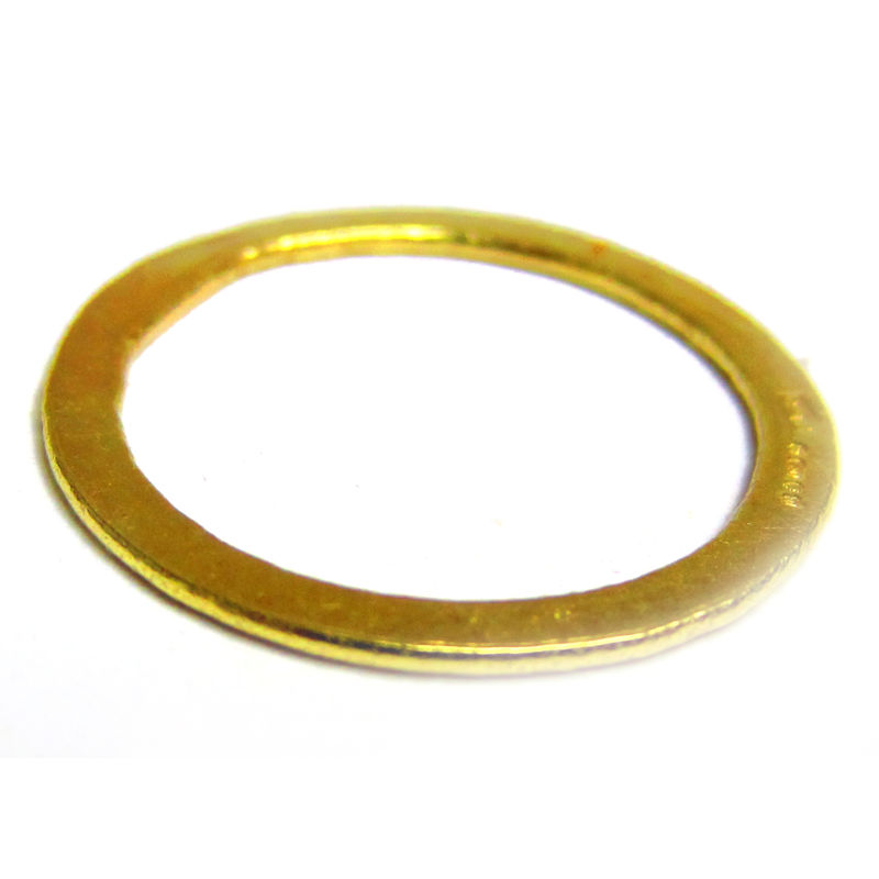 18 ct yellow gold flat stacking ring - product images  of