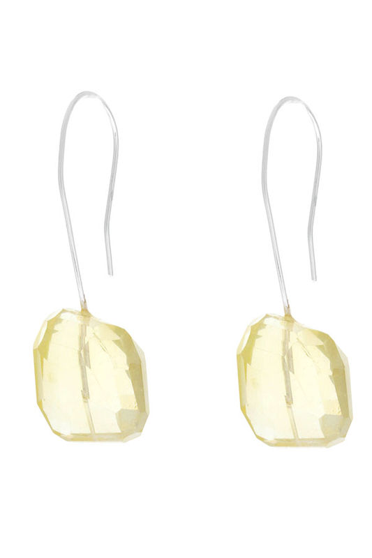Lemon quartz Nuggets Earrings in sterling silver - product images  of