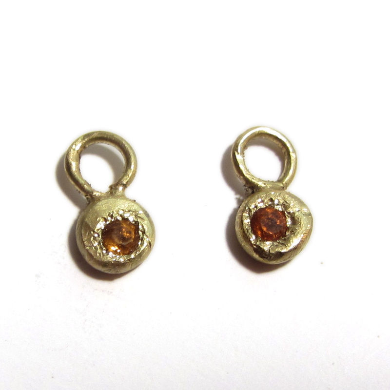 18K yellow gold and Citrine Earrings - product images  of