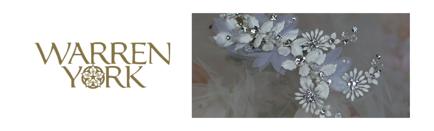 Warren York wedding hair accessories