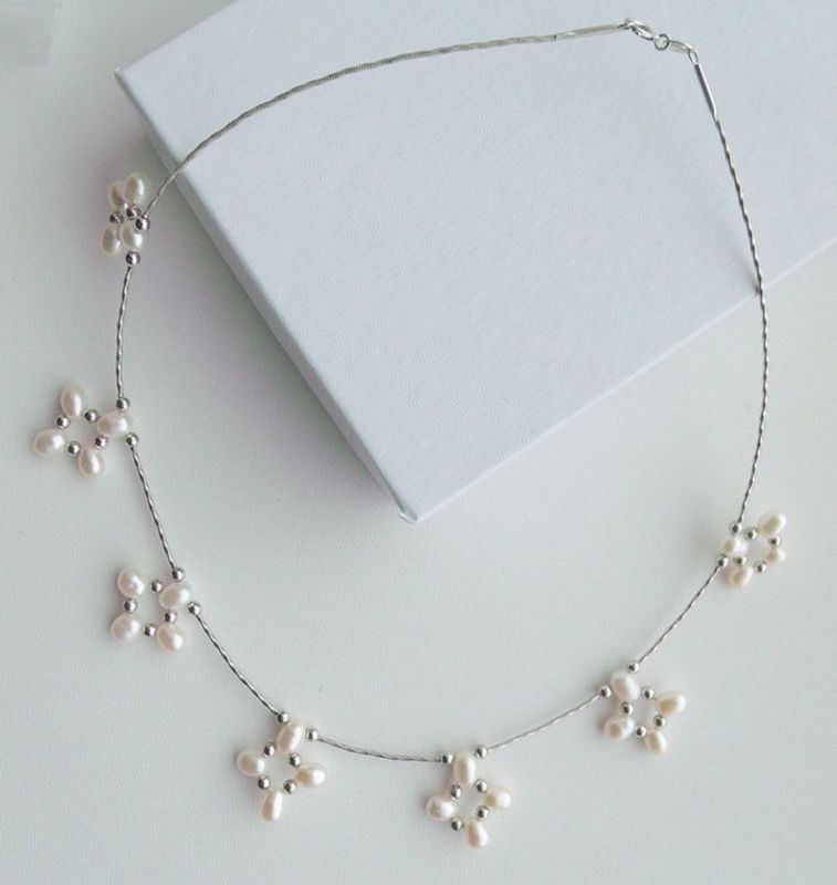 Unique freshwater pearl choker style bridal necklace - product images  of