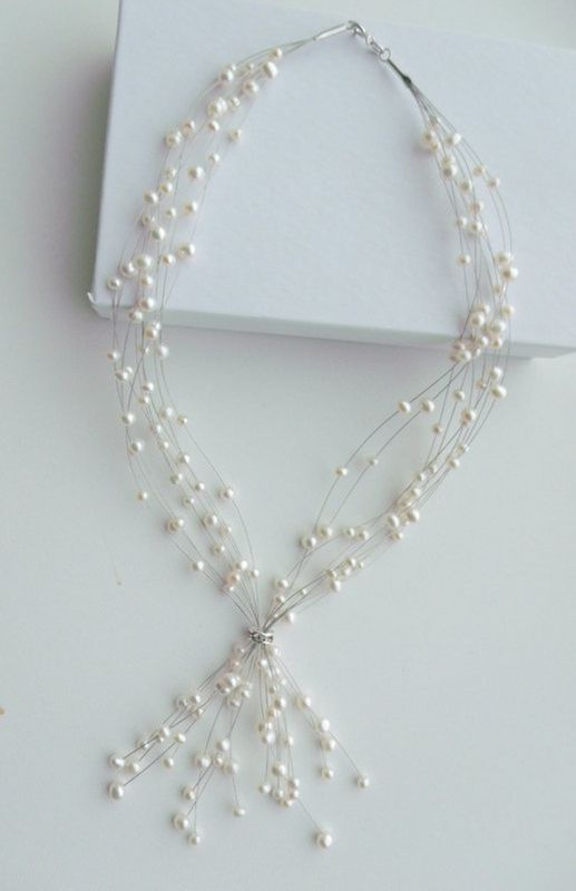 Illusion style river water pearl wedding necklace - product images  of