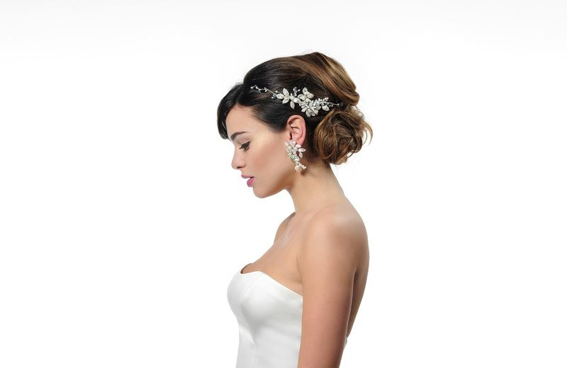 leaf wedding hair vine  - product images  of