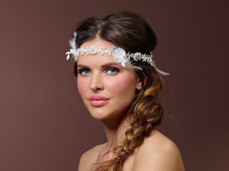 Luxury boho chic wedding headband  - product images  of