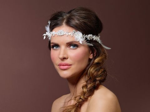 Luxury,boho,chic,wedding,headband,Luxury boho chic feather and pearl wedding headband, Boho chic wedding headband, lace headband for brides, headband uk, vintage boho chic wedding hair accessories, wedding hair accessories for boho chic brides, wedding headband, bridal hair accessories, w