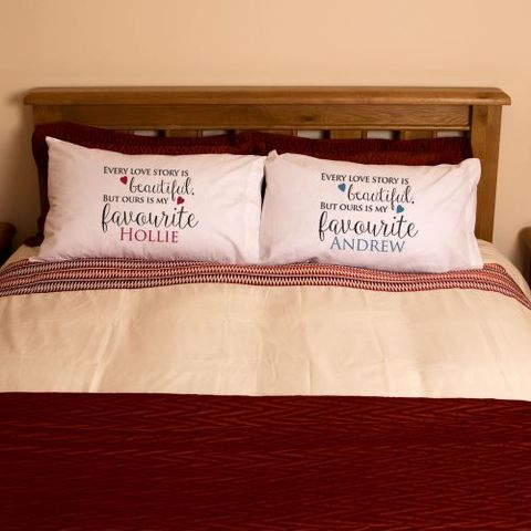 Mr,and,Mrs,love,story,pillowcase,mr and mrs pillowcases, bride and groom gifts, wedding gifts, wedding presents