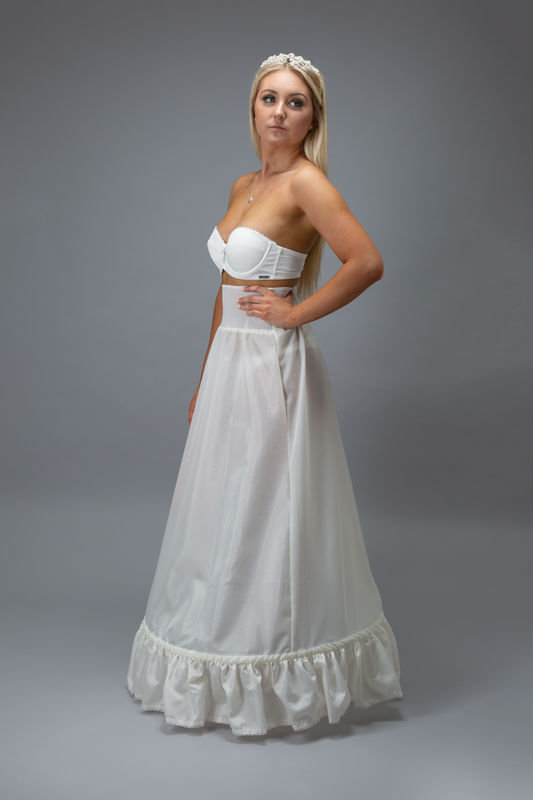 A-line single hooped wedding dress petticoat - product images  of