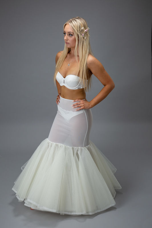 Fishtail Shaper style hooped wedding dress petticoat - product images  of
