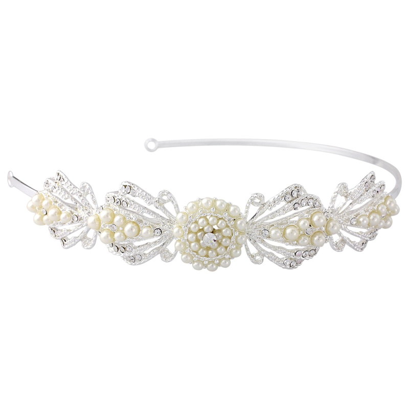 Art Deco pearl chic wedding headband - product images  of