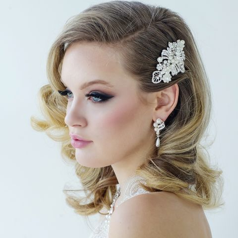 Pearl,and,crystal,wedding,hair,comb,Pearl and crystal hair comb, wedding hair comb, pearl and crystal wedding hair comb, bridal hair comb, vintage wedding hair comb, silver hair comb, wedding hair accessories wedding hair accessories for short hair wedding hair accessories flowers wedding h