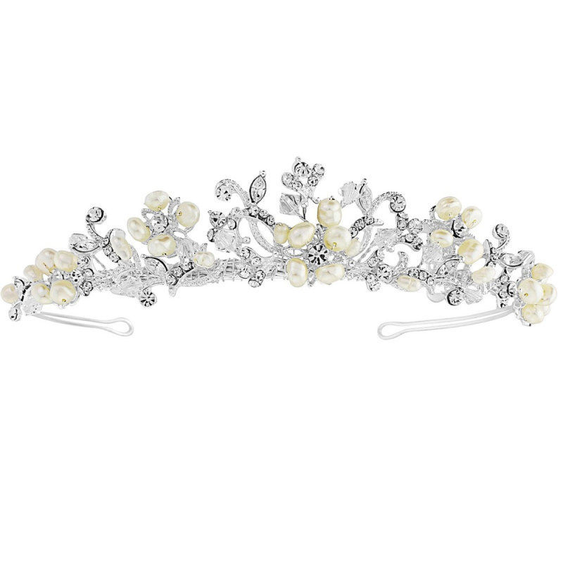 Freshwater pearl wedding tiara - product images  of