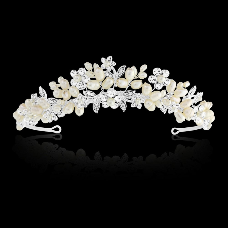 Luxury pearl wedding tiara - product images  of