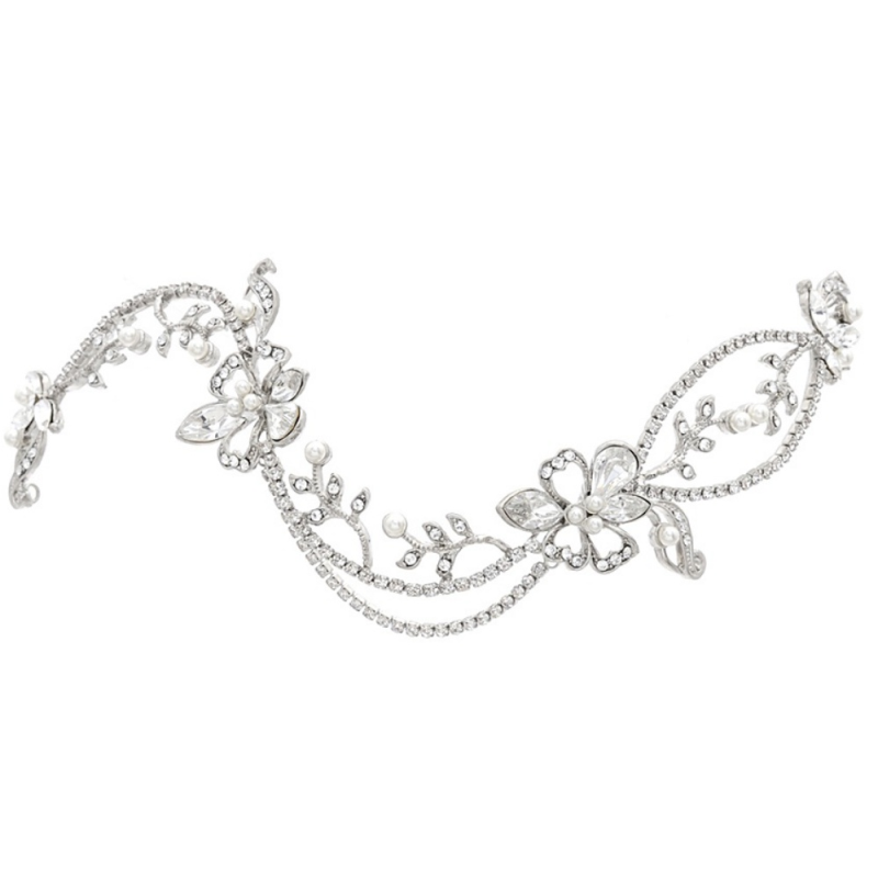 Crystal adjustable wedding hair vine - product images  of
