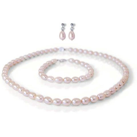 River,water,cultured,pearl,classic,necklace,earring,and,bracelet,wedding,jewellery,set,Pearl wedding jewellery, bridesmaid weding jewellery, pearl bridal jewellery sets, pearl jewellery set for brides, wedding pearl jewellery sets, pink pearl wedding jewellery set, grey pearl wedding jewellery sets