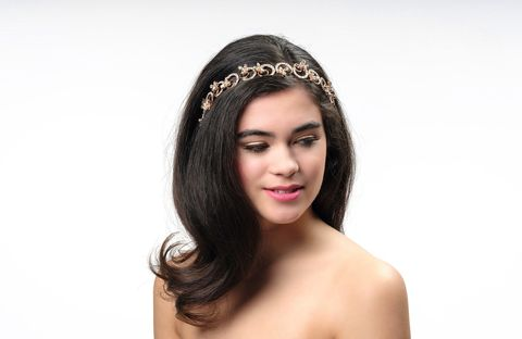 Intricate,floral,rose,gold,and,crystal,bridal,headband,Rose gold bridal headband, rose gold bridal hairpiece, rose gold intricate crystal wedding headband, rose gold wedding hair band, bridal rose gold tiara, rose gold wedding hair accessories,