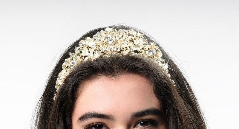 Princess ornate floral wedding tiara - product images  of