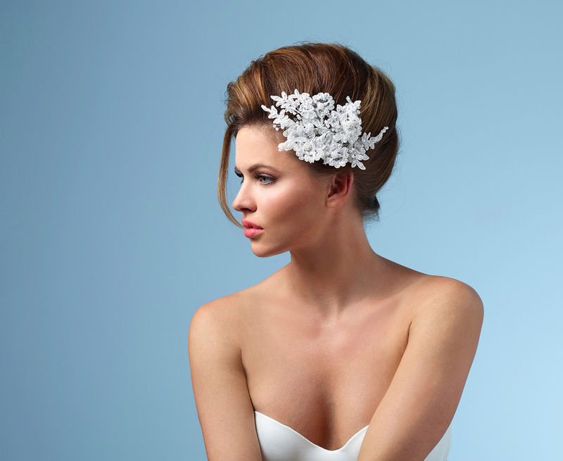 Vintage lace wedding hair accessory - product images  of