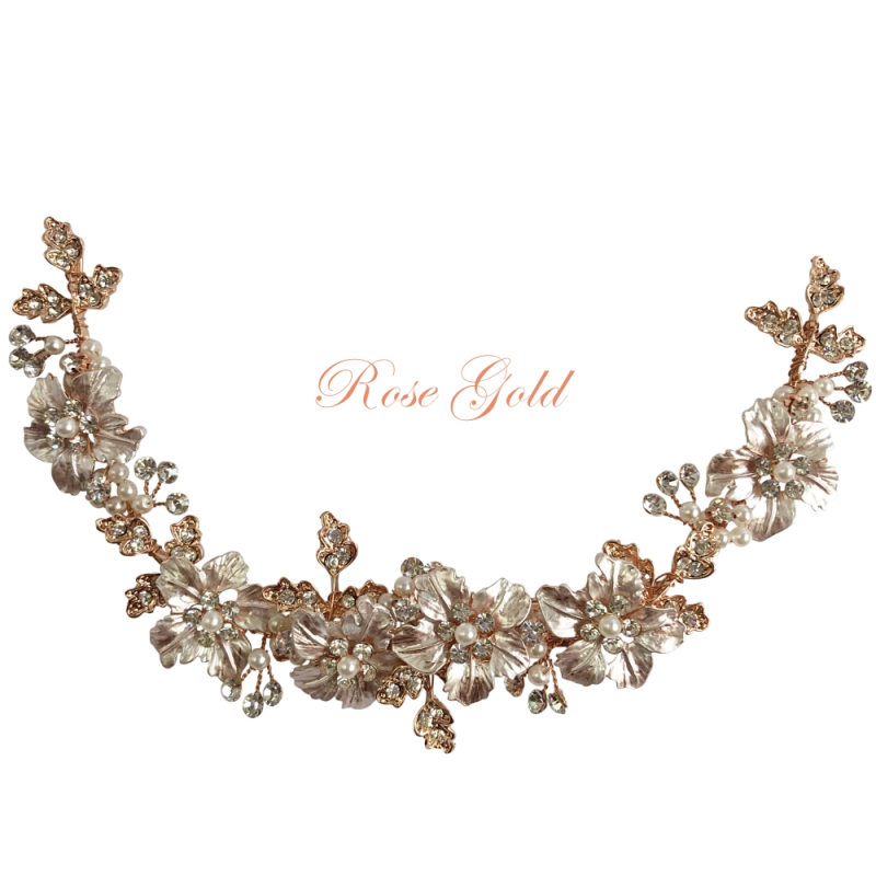 Floral gold wedding hair vine  - product images  of