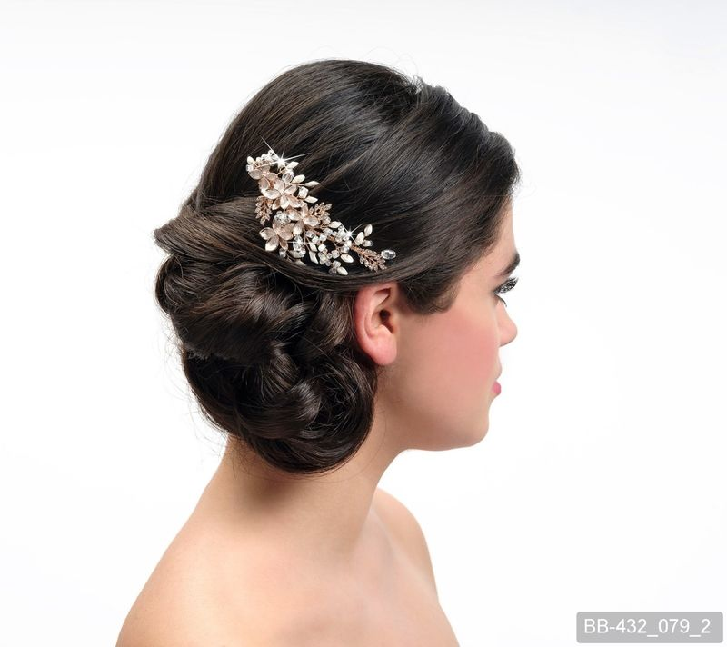 Floral wedding hair comb - product images  of