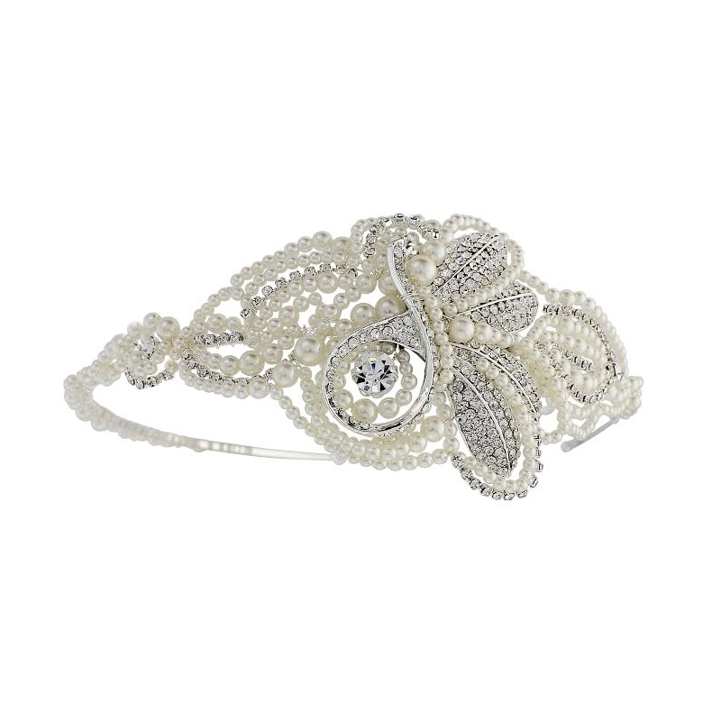 Vintage pearl wedding headband  - product images  of