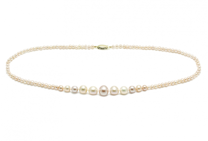 Cultured river water pearl graduated wedding pearl necklace - product images  of