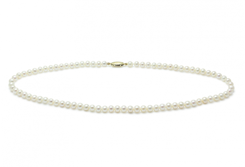 River water pearl wedding necklace with 9ct yellow gold clasp - product images  of