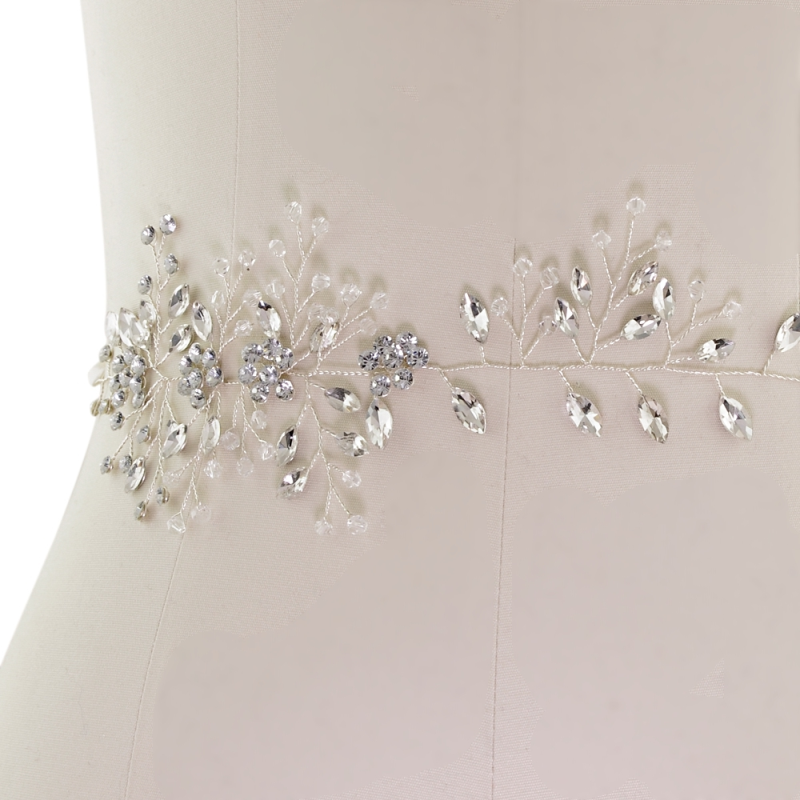 Chic crystal vintage style wedding dress belt - product images  of