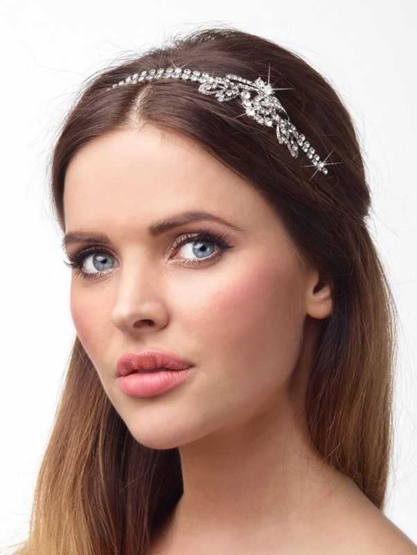 Diamante wedding side headband - product images  of
