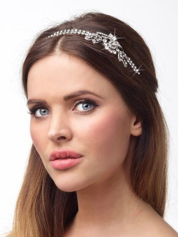 Diamante,wedding,side,headband,diamante wedding side headband, wedding hair accessories, wedding headband for short hair, wedding side headband, wedding headband, crystal side headband, diamante headband for brides, modern couture headband, hair accessory by Poirier, crystal side hairb