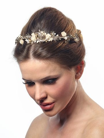 Luxury,gold,and,floral,wedding,tiara,Luxury gold and floral wedding tiara, gold tiara, floral tiara, wedding tiara, wedding hair accessories, feminine wedding tiara, vintage tiara, Tiaras for brides, Tiaras uk, floral wedding tiara, gold wedding hair accessories, gold bridal tiar