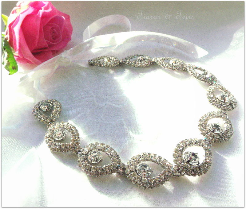 bepsoke crystal wedding hair chain