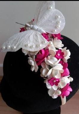 butterfly and floral bridesmaid hair band