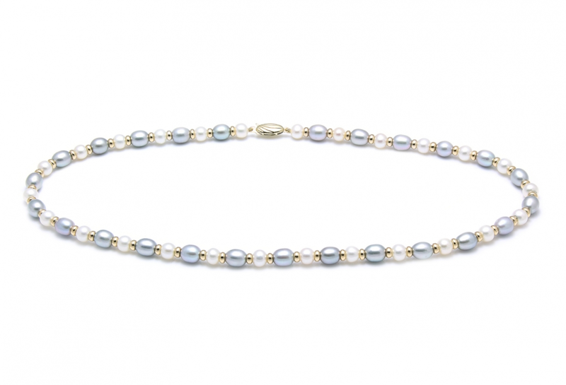 Gemstone and cultured pearl wedding necklaces - product images  of