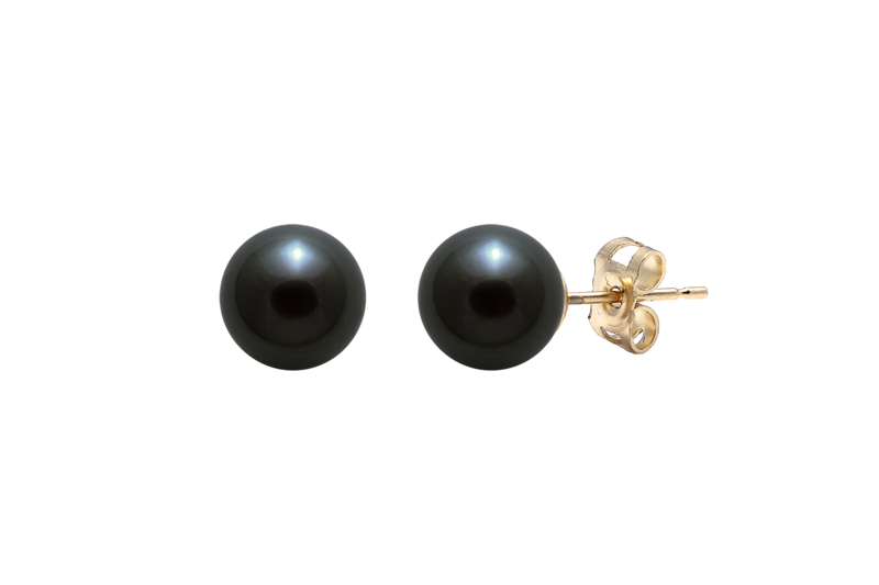 Akoya white pearl stud wedding earrings  - product images  of