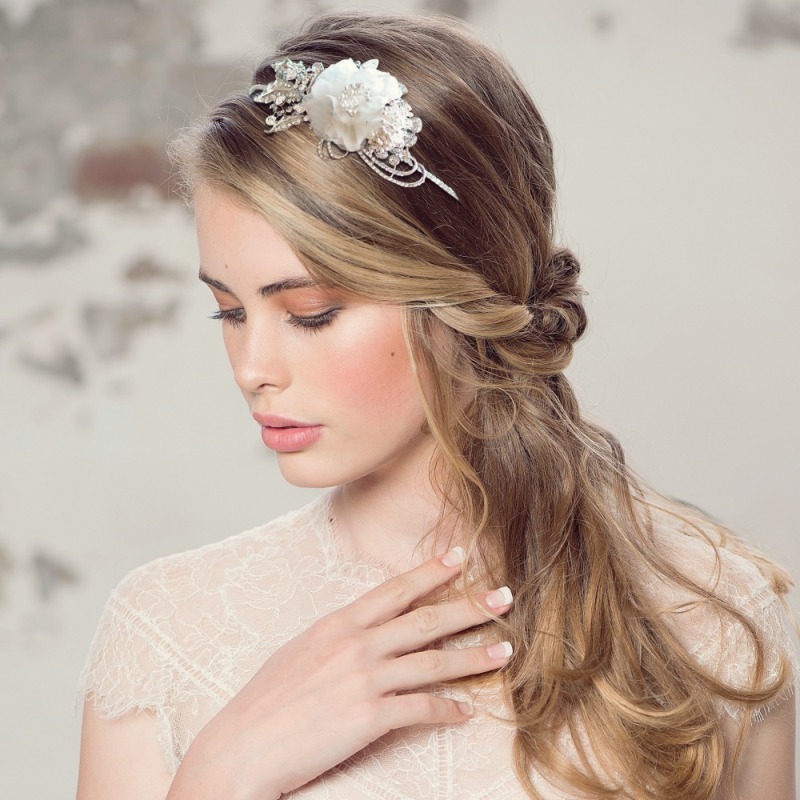 Vintage floral wedding headband - product images  of