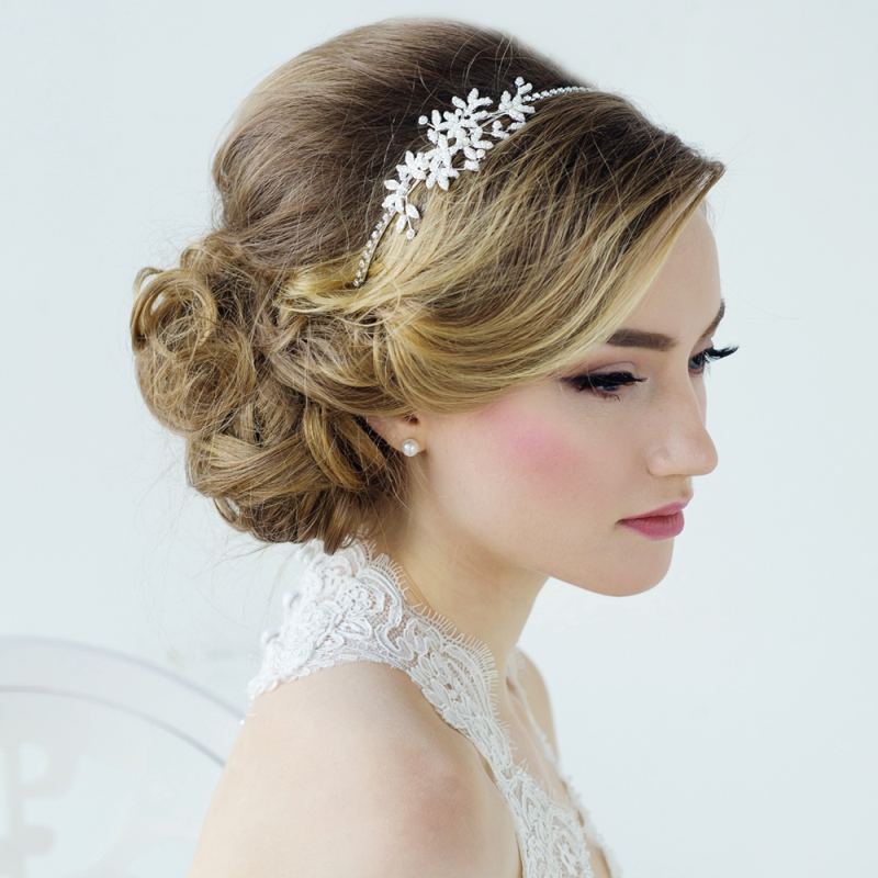 Pearl wedding side tiara - product images  of
