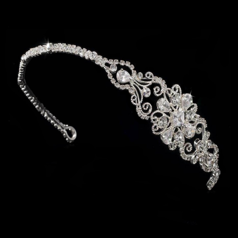 Crystal wedding side tiara - product images  of