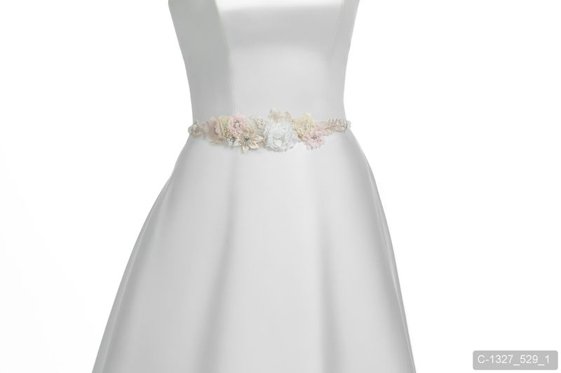 Pastel floral wedding dress belt - product images  of