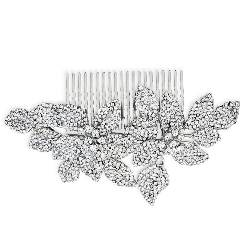 Vintage crystal wedding hair comb - product images  of