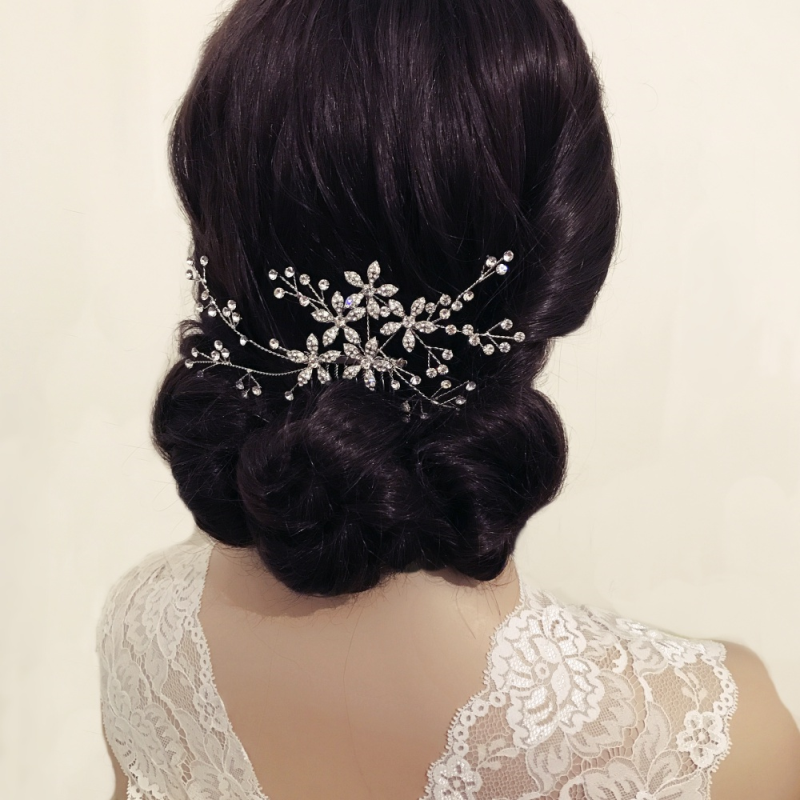 Floral vine style wedding hair comb  - product images  of
