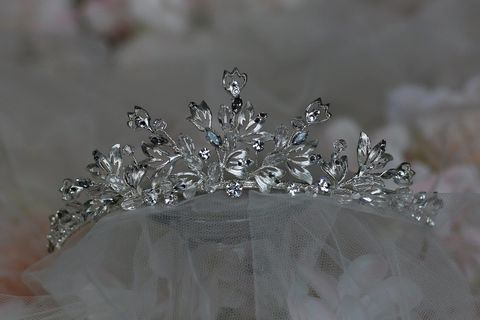 Diamante,leaf,style,wedding,tiara,Diamante leaf style wedding tiara, wedding tiara, wedding hair accessories, leaf style tiara, bridal tiara,  high wedding tiara, princess tiara