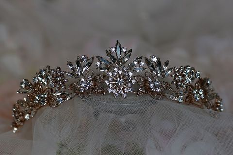 Rose,gold,diamante,wedding,tiara,Rose gold diamante wedding tiara, rose gold tiara, wedding tiara, diamante tiara, gold tiara, rose gold wedding hair accessories