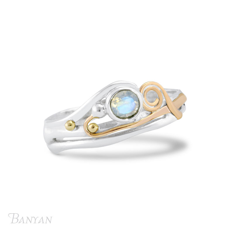 Moonstone and sterling silver ring - product images