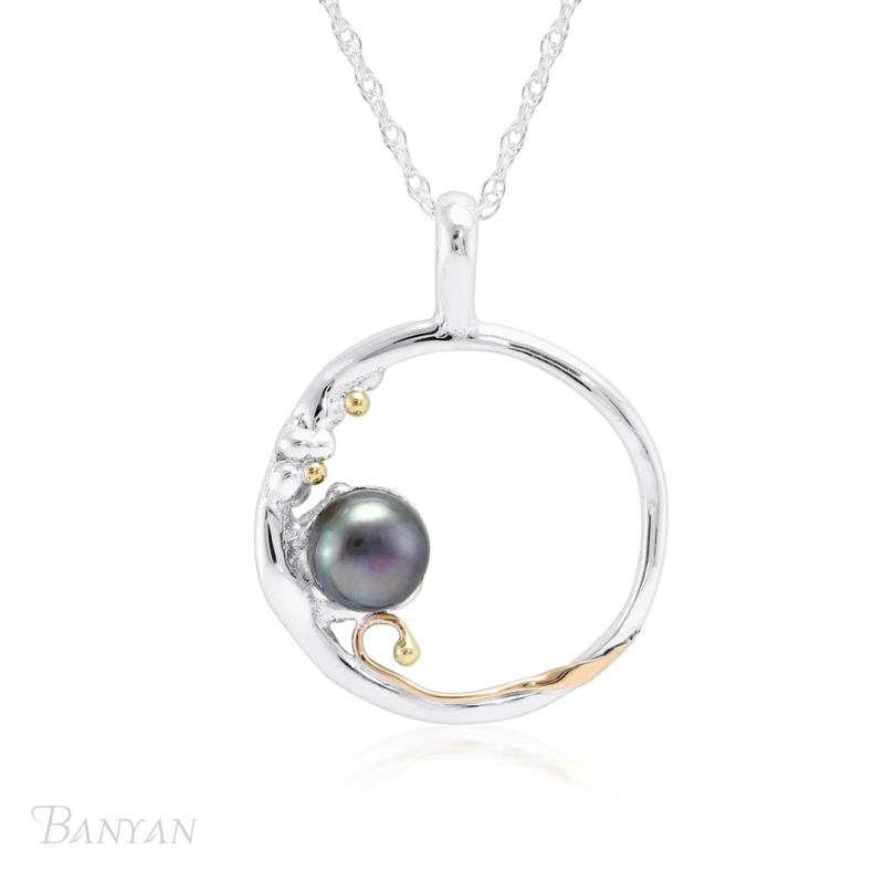 Oval fresh water pearl unique wedding necklace  - product images  of