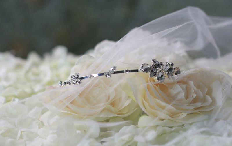 Simple diamante wedding headband - product images