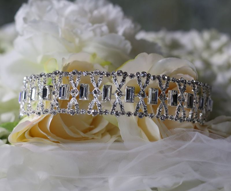 Diamante art deco wedding headband  - product images  of