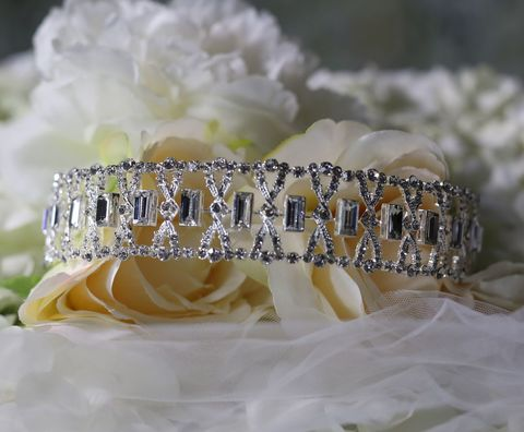 Diamante,art,deco,wedding,headband,Diamante art deco wedding headband, diamante wedding headband, sparkly headband, headband by Warren York, headbands for weddings, Art deco wedding hair accessories, Art deco headband, art deco headpiece, Hollywood glamour wedding headband, diamante weddin