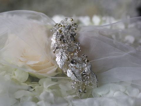 Silver,leaf,and,diamante,wedding,hair,clip,Silver leaf and diamante wedding hair clip, wedding hair accessories, bridal hair accessories, leaf and diamante hair comb, wedding hair clip bridal hair clip, leaf wedding hair comb, diamante wedding hair comb